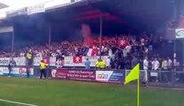 OL-Ajax à Bourgoin : les ultras lyonnais se font entendre