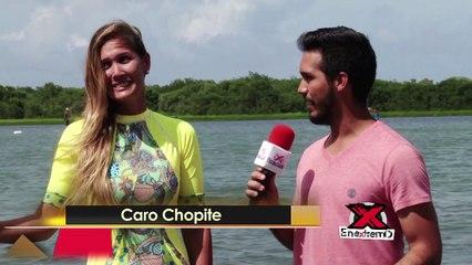 La modelo Caro Chopite compartió con En Extremo en el Beach Culture World Tour 2017