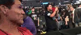 Reaction of Frank Shamrock on Mayweather vs Gregor heated face off, says its kind of crazy.