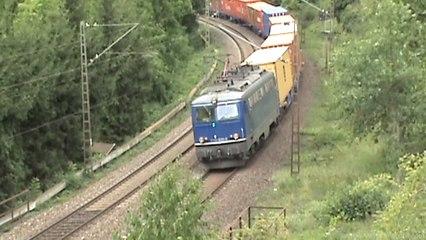 Bahnen zwischen Loreley und Roßsteintunnel Teil 01, Northrail 1142, BR120, 2x BR145