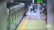 Elle se fait traîner par le métro sur plusieurs mètres.