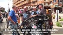Grand rassemblement de bikers fans de Harley Davidson