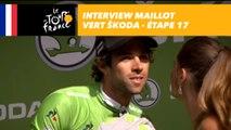L'interview du maillot vert ŠKODA - Étape 17 - Tour de France 2017