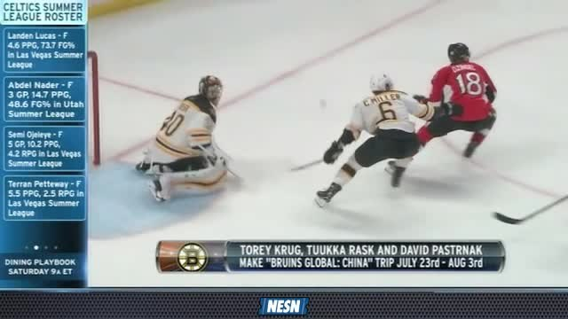 NESN Sports Today: Torey Krug Excited To Start New Bruins Season