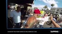Un militant pro-Trump frappe violemment un vieil homme en plein visage ! (Vidéo)