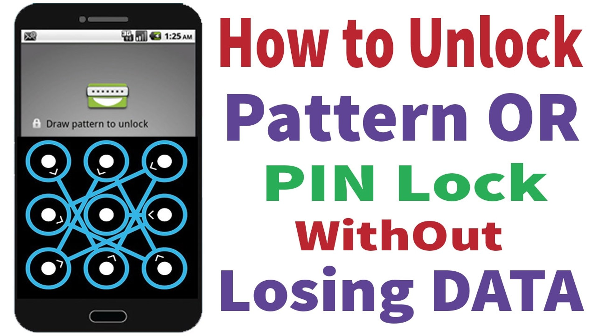 How to Unlock Android Pattern or Pin Lock without losing data _ Without USB  Debugging