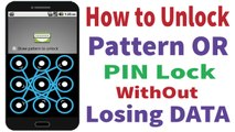 How to Unlock Android Pattern & pin lock 100% work without