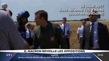 Les images de Macron habillé en pilote de l'armée rendent mieux avec la musique de Top Gun