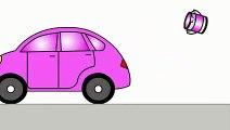 Smart Kids Learn Color Cartoons for Children 5- Coloured Cars [聪明的孩子创建具有彩色形状] ABC 123 - YouTu
