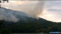 Les canadairs en renfort pour un très violent incendie dans l'Ain