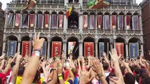 Tomorrowland 2017 1.700 festivaliers sur la grand-place de Bruxelles