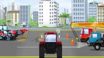 Kids Video w The Yellow Bulldozer digging and Excavator | Construction Trucks Cartoons for children
