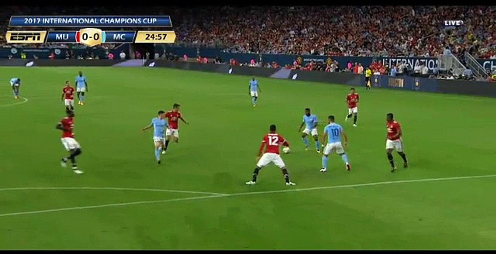 Raheem Sterling Amazing chance - Manchester City 0-0 Manchester United - 20.07.2017 International Ch