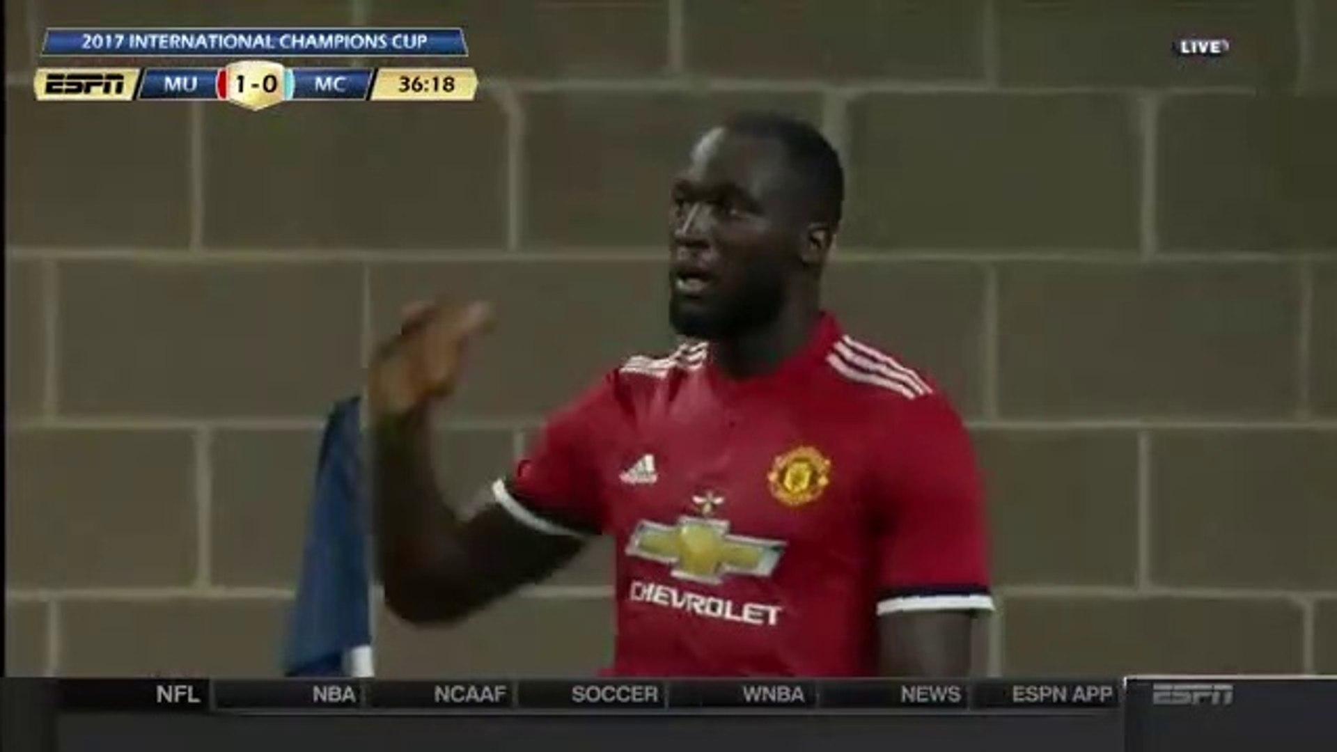 1-0 Romelu Lukaku AMAZING Goal - Manchester United 1-0 Manchester City 21.07.2017
