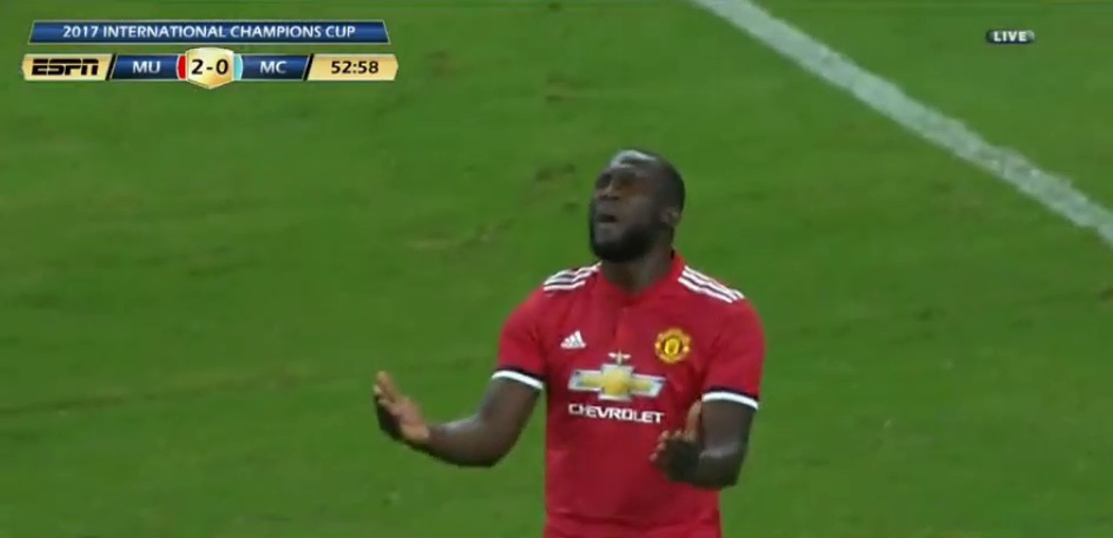 Romelu Lukaku Super Strike Hits Cross-Bar HD - Manchester United 2-0 Manchester City 21.07.2017