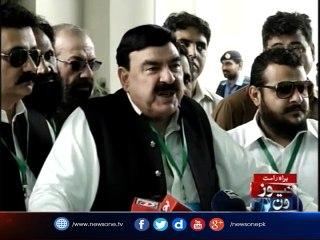 #PanamaKaHungama Sheikh Rasheed media talk outside SC