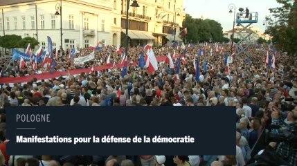 Pologne : manifestations pour défendre la démocratie