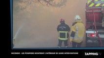 Incendies : les pompiers filment leur intervention au milieu des flammes, les images chocs ! (Vidéo)