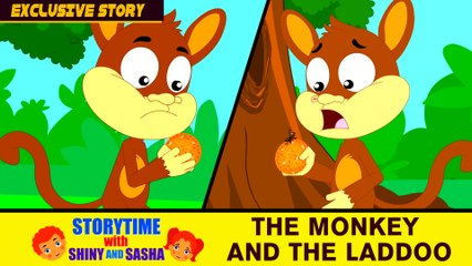 EXCLUSIVE Kids Stories 2017 | The Monkey and The Laddoo | Animated English Stories | Bedtime Stories