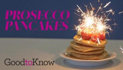 Prosecco pancakes
