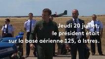 """Le moment """"Top Gun"""" d'Emmanuel Macron"""