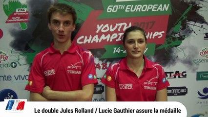 Le double Jules Rolland / Lucie Gauthier médaillé !