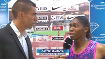 Athlétisme - Meeting Herculis - Caster Semenya se confie au micro de CANAL+