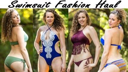 ASMR Ear Massage, Binaural Whisper | 2017 Summer Swimsuit Fashion Haul & Try On