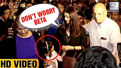 Aishwarya Rai Protects Daughter Aaradhya Bachchan From Media Photographers