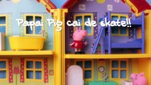 Faire famille porc patin george Peppa tombe Peppa Brésil Portugais disneykids