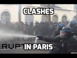 Paris clashes: Tear gas vs projectiles at student-led demo against labor reforms