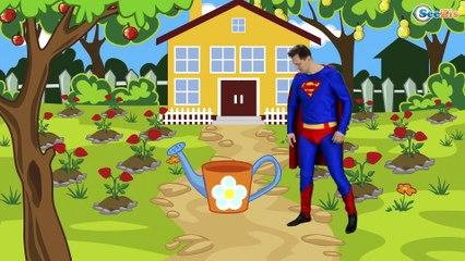 Rain Rain Go Away Nursery Rhyme With Lyrics by Spiderman - Cartoon Animation Songs for Kids