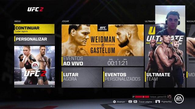 Chris Weidman vs Kelvin Gastelum - Simulação EA SPORTS UFC 2 (2)