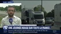 Circulation très dense sur les routes, 556 km de bouchons recensés à la mi-journée