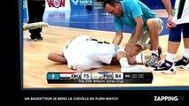 Basket-ball : il se fait dribbler et se casse violemment la cheville (Vidéo)