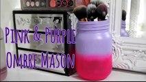 DIY Vanity & Makeup Storage Set! DIY Makeup Brush Holder & 4 Glam Jars