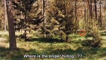 Moderne tireur délite techniques de camouflage / camouflage à lépoque