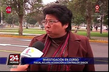 Fiscal Zoila Sueno explica denuncia contra contralor Nelson Shack