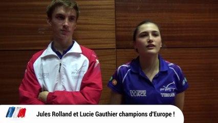 Lucie Gauthier et Jules Rolland en or !