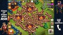 Y ceniza ataque bárbaros clanes choque en en insano Liga de titán ganar 295 royale