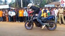 Stunts 2016 | Pulsar 220 stunts | Royal enfield | KTM Duke | Action |
