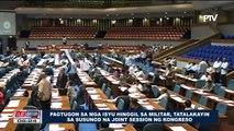 Pagtugon sa mga isyu hinggil sa Militar, tatalakayin sa susunod na Joint Session ng Kongreso