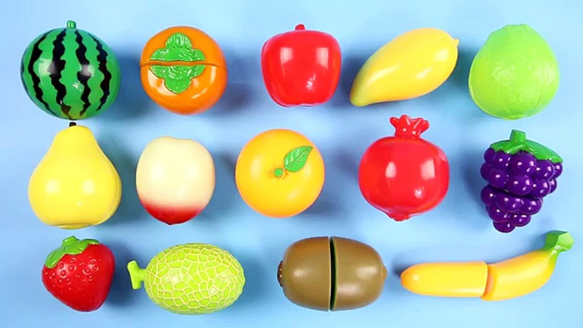 Узнайте фрукты и овощи имен с липучка резка игрушка Комплект Дети детей младшего возраста