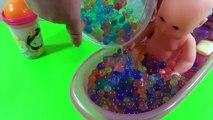 Bébés bébé bain perles enfants les couleurs poupée pour enfants Apprendre jouer les tout-petits avec orbeez