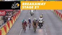 9 coureurs en tête / 9 riders ahead - Étape 21 / Stage 21 - Tour de France 2017
