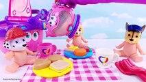 Un et un à un un à et bébé poupées pour amusement amusement aller enfants sur patrouille patte pique-nique jouer pot faire semblant Entrainer vidéo t