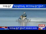 Australian Biker Rides His Dirt Bike In The Ocean!