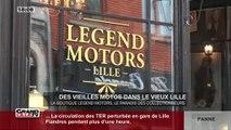 Des vieilles motos dans le Vieux Lille