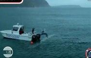 Le 100 m entre Michael Phelps et un grand requin blanc... en image de synthèse