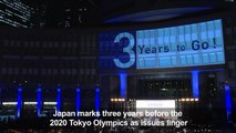 Olympics: Japan marks three years to Tokyo 2020 as issues linger